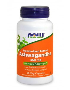 Ashwagandha Extract 450mg - 90 vcaps NOW Foods