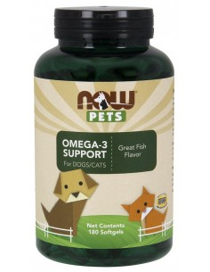 Now Pets Omega-3 Support 180 perle