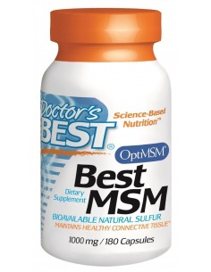 Best MSM 1000mg 180 caps by Doctor's Best