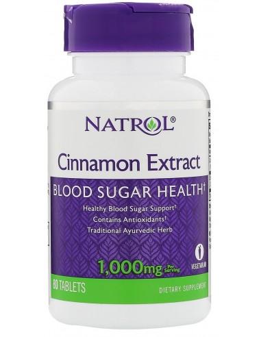 Natrol Cinnamon Extract 1000mg 80 tabs