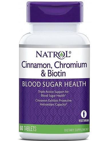 Natrol Cinnamon Biotin Chromium 60 tabs
