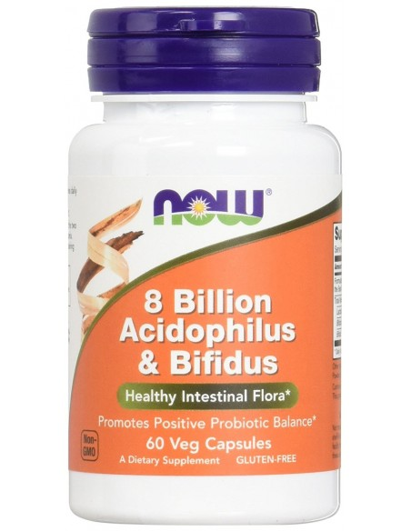 NOW Foods 8 Billion Acidophilus & Bifidus - 60 vcaps